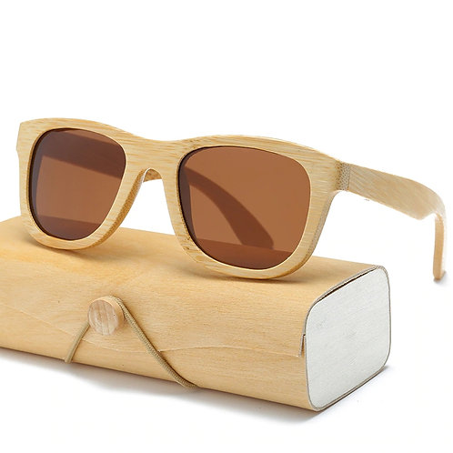 Wood Sunglasses Men women square bamboo Eyewear from EcVendor
