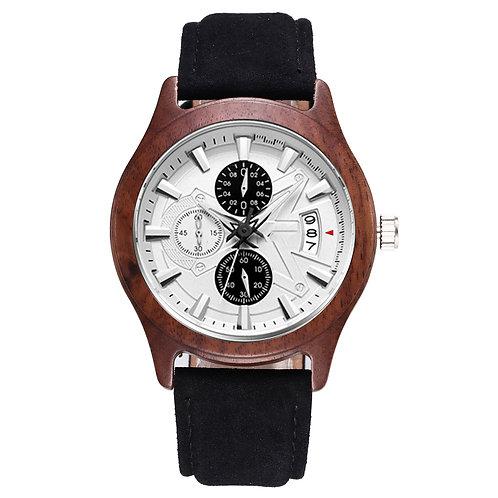 New Men big size Walnut wooden chronograph watch EcVendor wood wristwatch