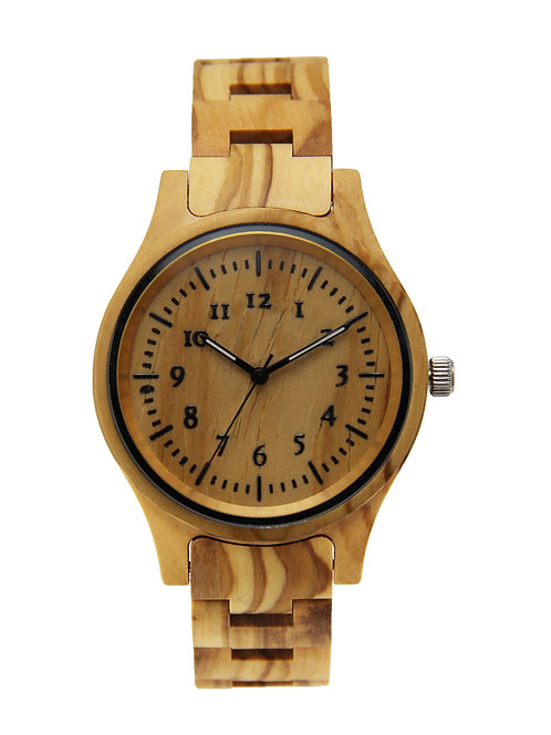 Olive Wood Men Natural Wooden Watch from EcVendor