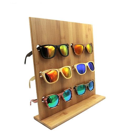 New Glasses Display Vintage Bamboo - Wood Sunglasses Frame shop Holder