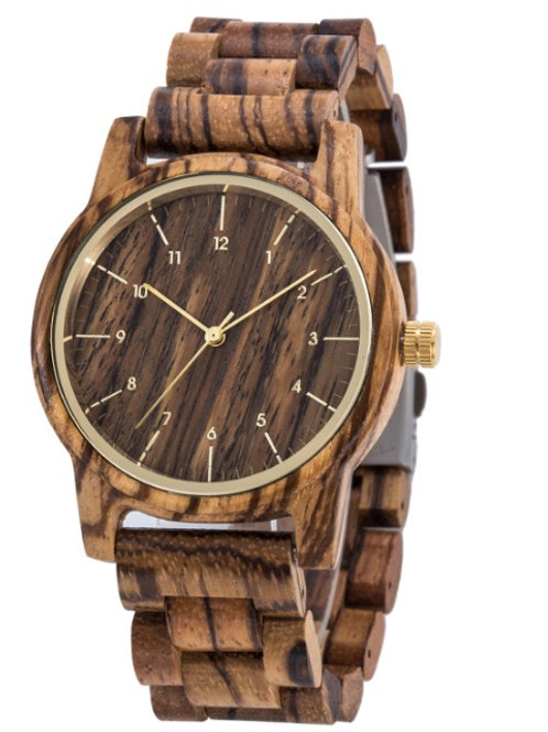 New Zebrano Wood Wristwatch from EcVendor