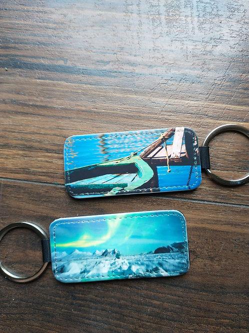Leather Keychains-Photo