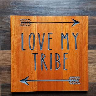 Love my tribe on wood flooring scraps