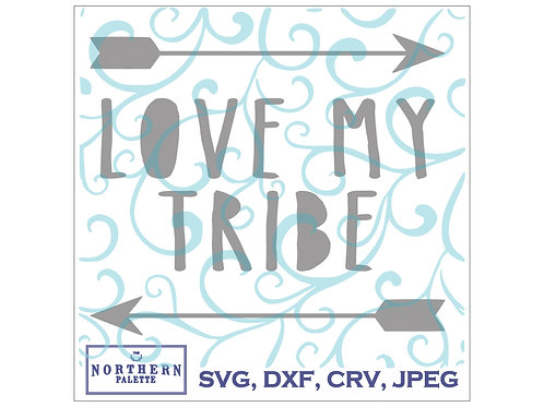 Love my tribe (the middles of letters are correct in files)
