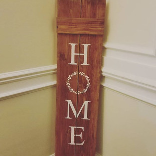 Rustic Home porch sign