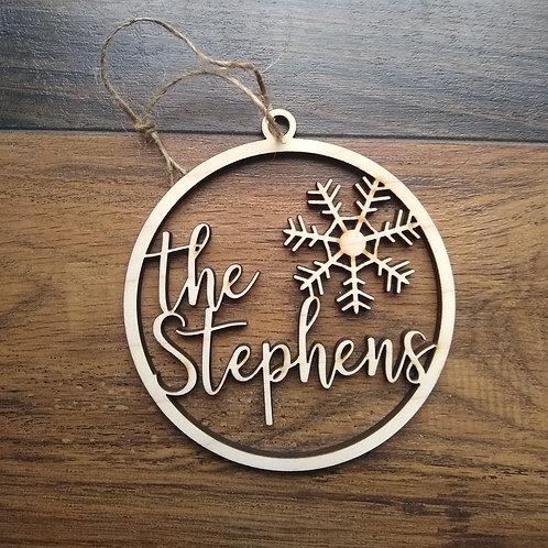 Last name gift ornament