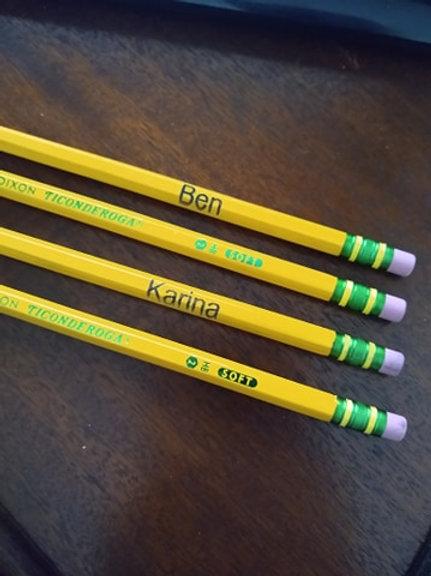 Engraved Pencils
