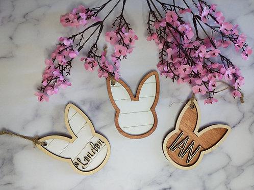 Shiplap bunny basket tags