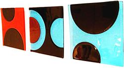 'Turqoise n Orange' triptych - Olga seri