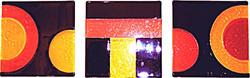 'Purple n Yellow' - Olga series - Glass