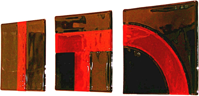 'Red n Black' triptych - Olga series - G