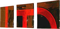 'Red n Black' triptych - Olga series - G