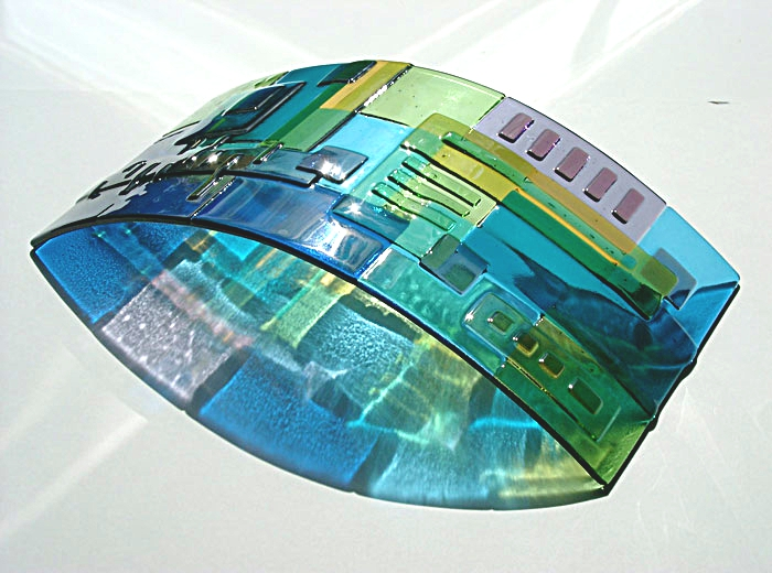 'Piet' glass panel - Glass by Lydia Hain