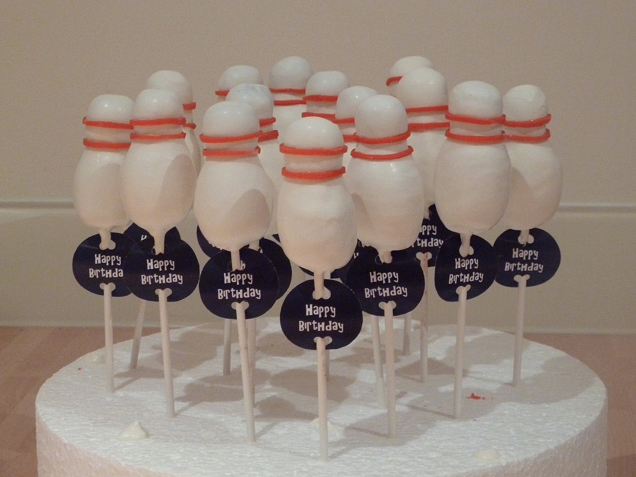 Bowling Ball Cake Pops