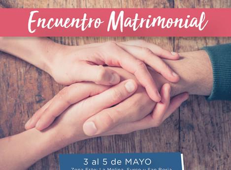 Encuentro Matrimonial ALMA 2019 - 3 al 5 de Mayo