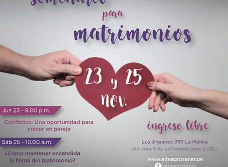 Seminario para Matrimonios - 23 y 25 de Noviembre