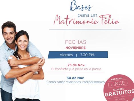 Talleres Semanales - Nov. - Sede Lince