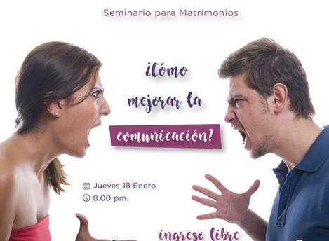 Seminario para Matrimonio - 18 de Enero