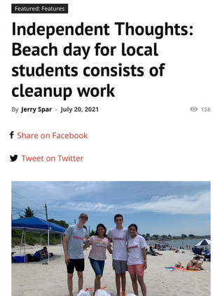 Hopkinton Independent Feature: Beach Cleanup