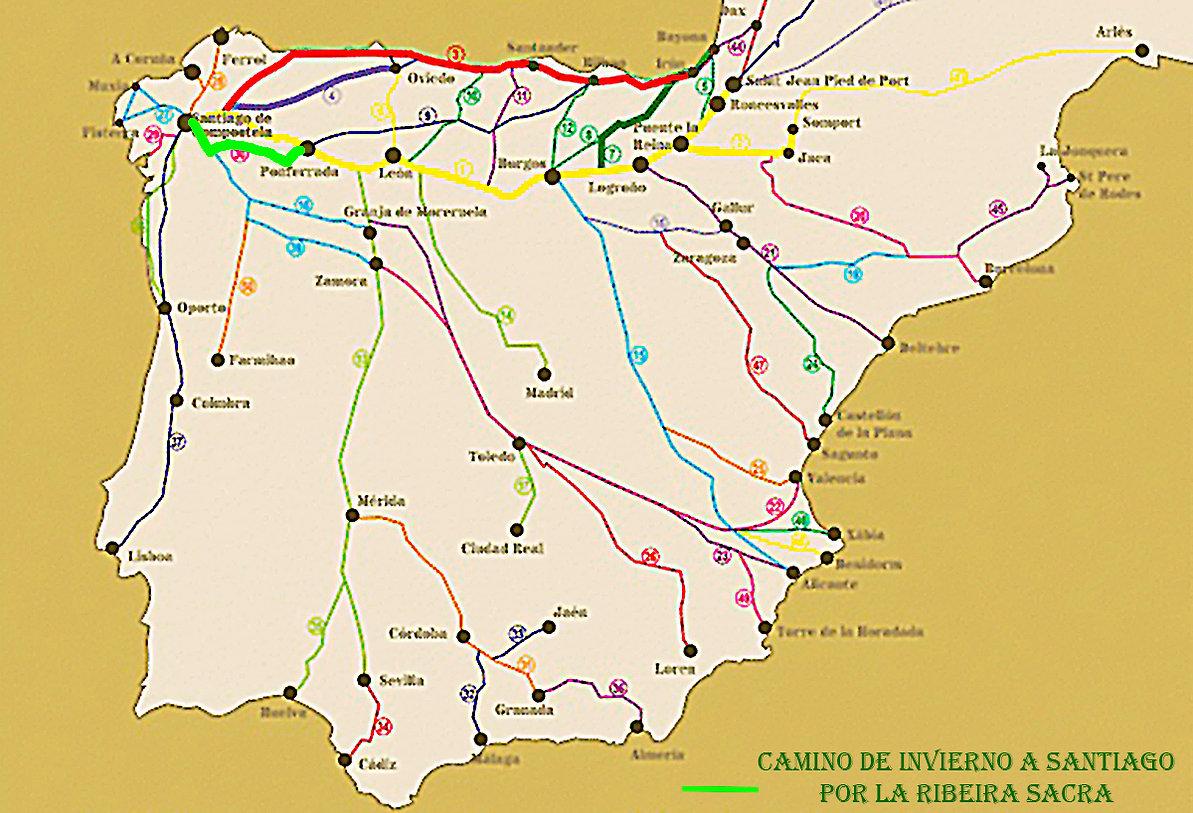 Rutas oficiales del camino de santiago-1