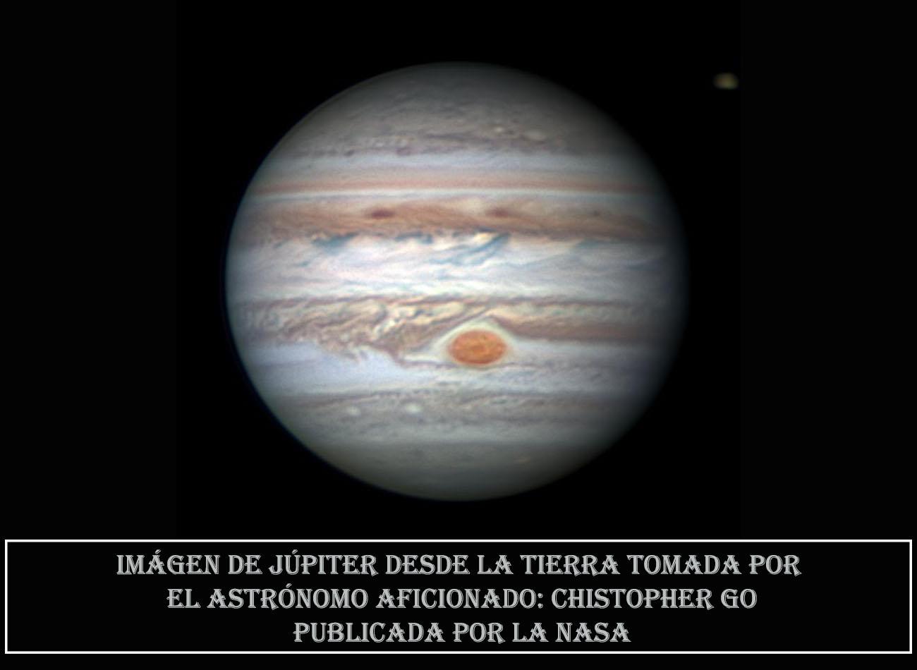 NASA-Jupiter desde la Tierra por Chistop