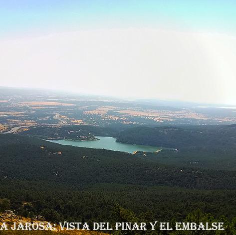 Vista general del Pinar y el embalse de