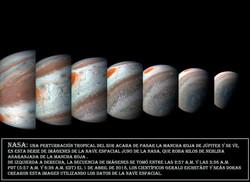 NASA-Secuencia imagenes Jupiter desde la