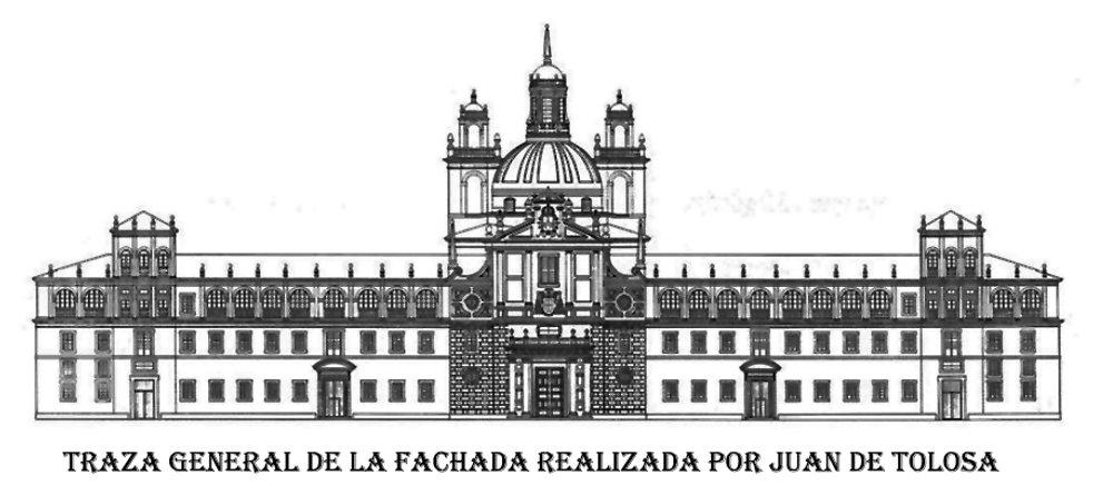 Traza general de la fachada-Juan de Tolo