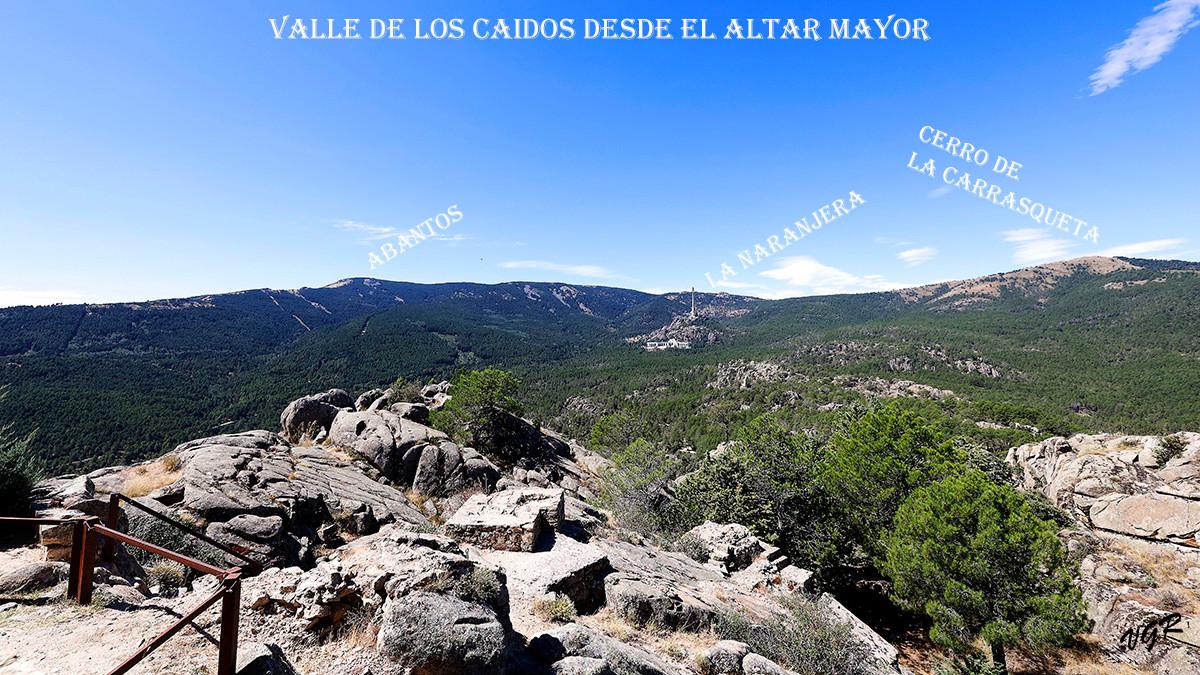 Valle de los Caidos desde Altar Mayor-WE