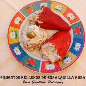 Pimientos rellenos de ensaladilla rusa-W