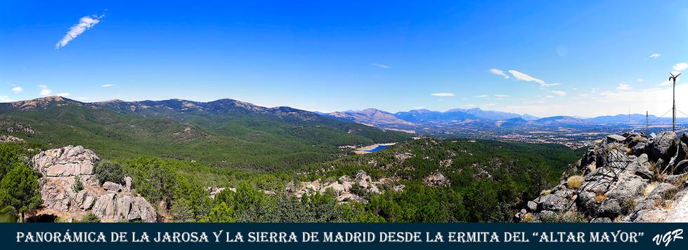 Panoramica La Jarosa+Sierra Madrid desde