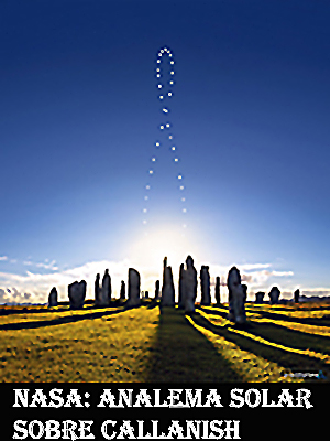 Analema solar sobre Callanish-WEB