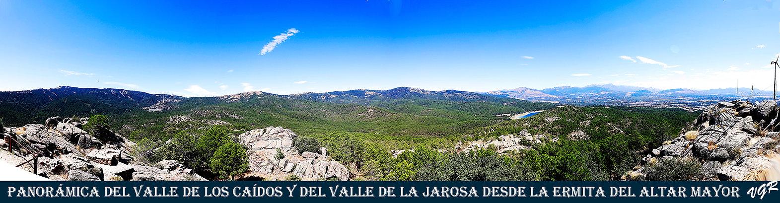 Panoramica Valle caidos+Jarosa desde el