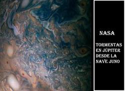 NASA-Tormentas en Jupiter desde nave Jun