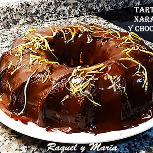 Tarta de naranja y chocolate-Raquel y Ma