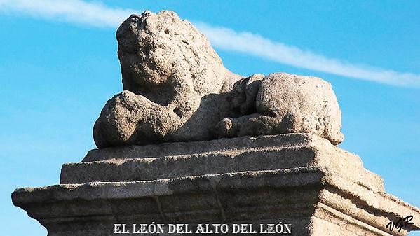 Leon del monumento del alto del leon-WEB