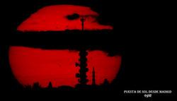 Puesta de sol desde Madrid-WEB