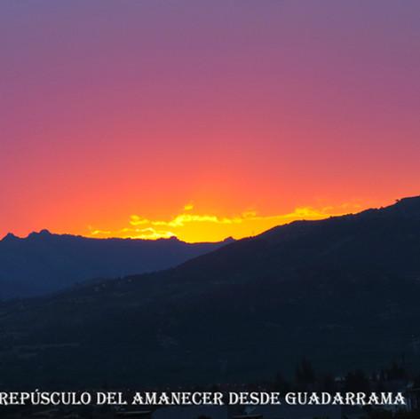 Crepusculo del amanecer-Guadarrama-WEB.j