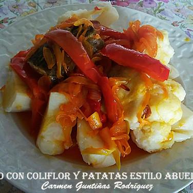 Bacalao con coliflor y patatas estilo ab