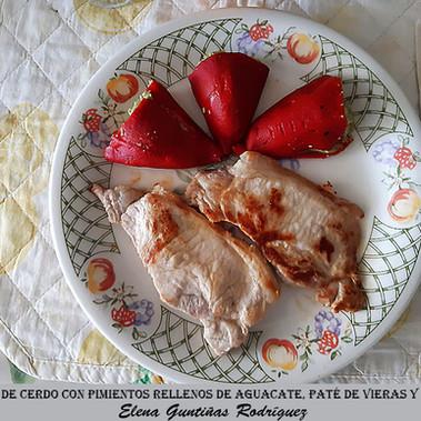 Lomo de cerdo+pimientos piquillo relleno