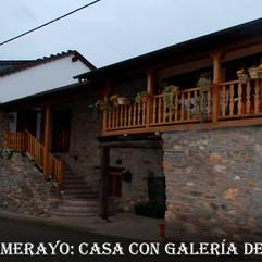 Toral de Merayo-Casa con galeria de made