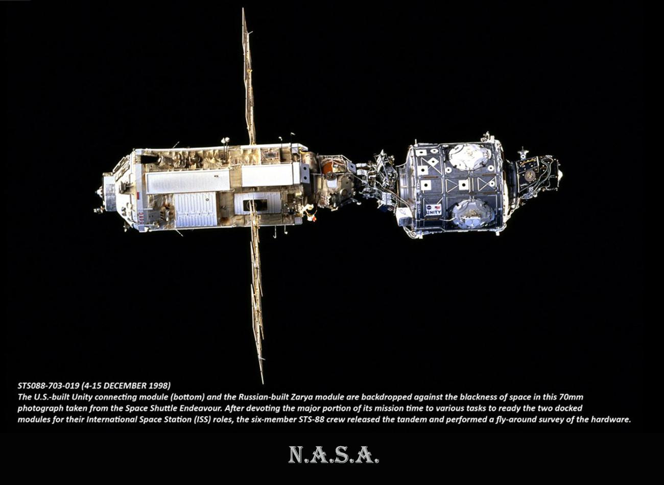 NASA-Conexion modulos-Zarya-WEB