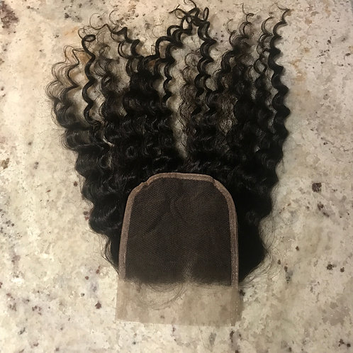 Simpli Hair Brazilian Kinky Curly Closure