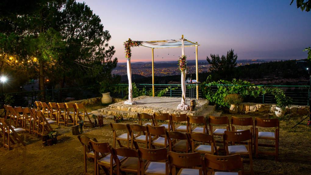 חתונה בטע חורף גוונא - חופה