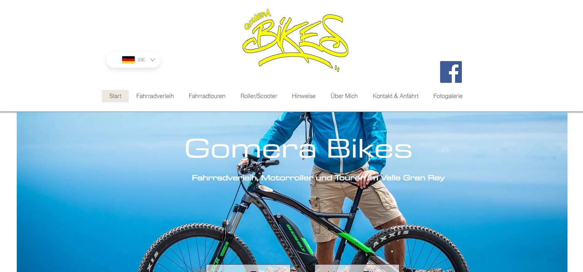 Website Gomera Bikes
