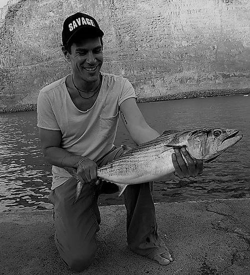 Markus Mette mit Thunfisch