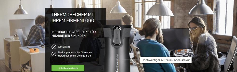 Wix-Website Beispiel vom Thermobecher-Shop