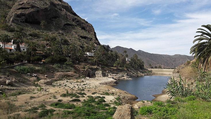 Der Stausee bei Vallehermoso, La Gomera