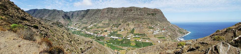 Der Ort Hermigua auf La Gomera
