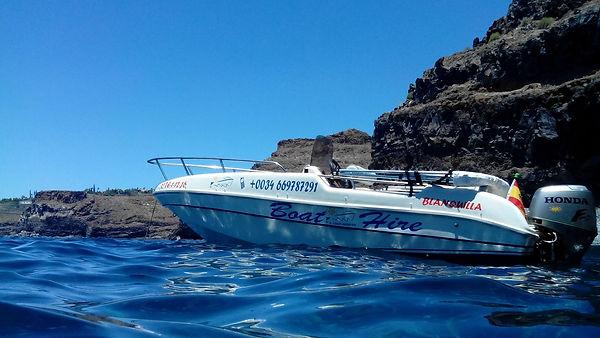 Boot zum Angeln auf La Gomera